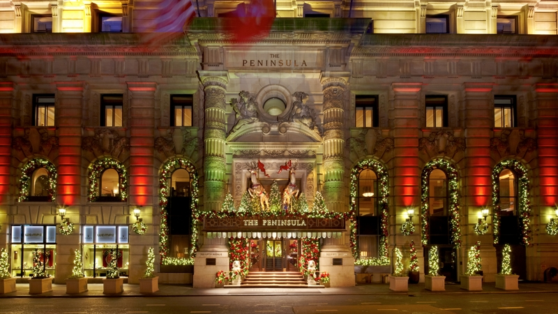 The Peninsula New York Holiday Decorations