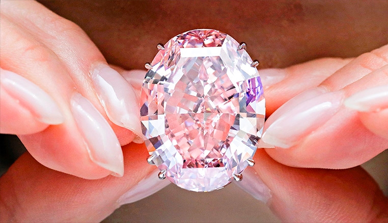 The Pink Star sets a new world auction record for any jewel - 2017 Sotheby's auction-