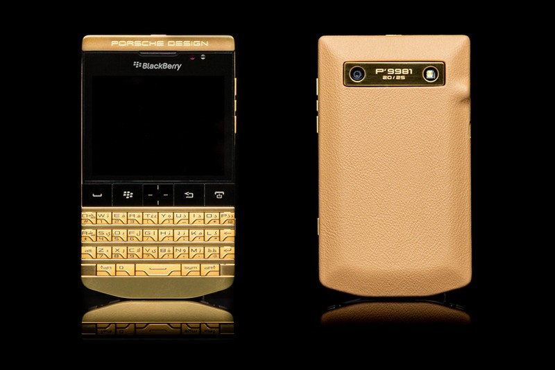 The Porsche of phones Goldgenie BlackBerry Porsche P'9981