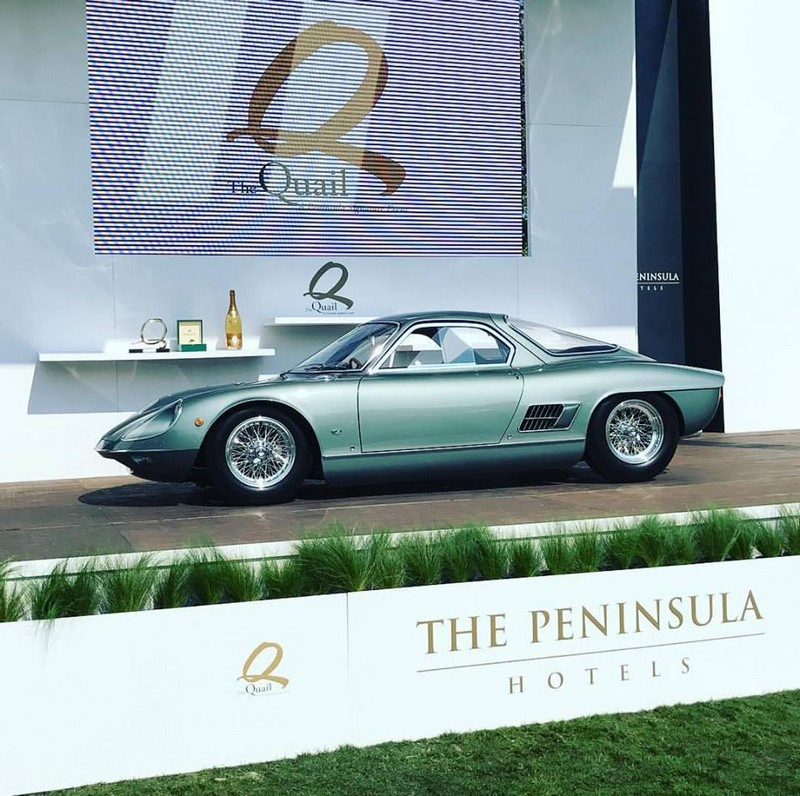 The Quail2017 Best of Show Award Winner, the 1964 ATS 2500 GTS, owned by Bruce Milner