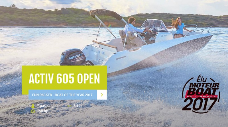 The Quicksilver Activ 605 Open wins Boat of the Year 2017 Award-01