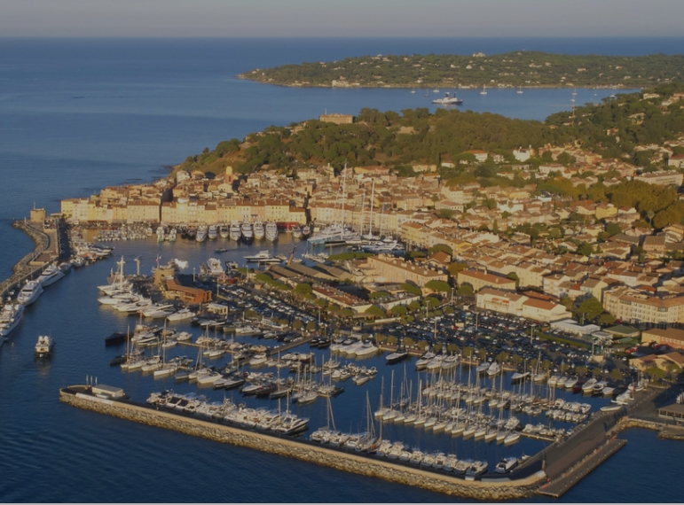 The Résidence de la Pinède in Saint-Tropez-aerial port area