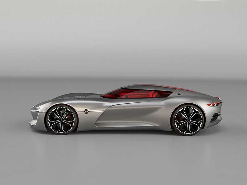 The Renault TREZOR voted Most Beautiful Concept Car of 2016-lateral