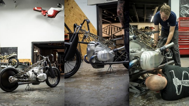 The Revival Birdcage by Revival Cycles motorcycle customizers