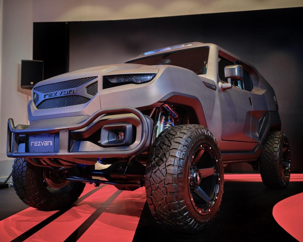 The Rezvani Tank is a bulletproof vehicle that looks like it belongs in a futuristic military service battalion