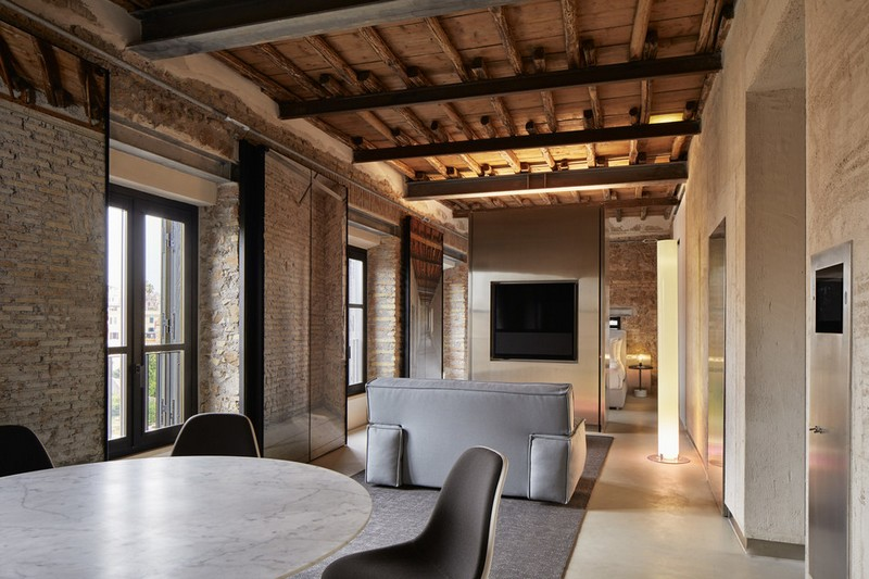 The Rooms of Rome apartment, designed by Jean Nouvel