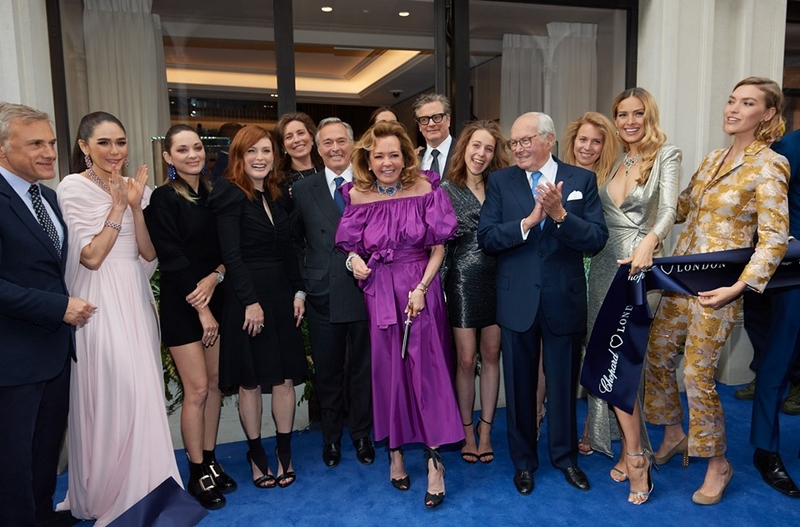 The Scheufele family celebrating the opening of the new Chopard boutique