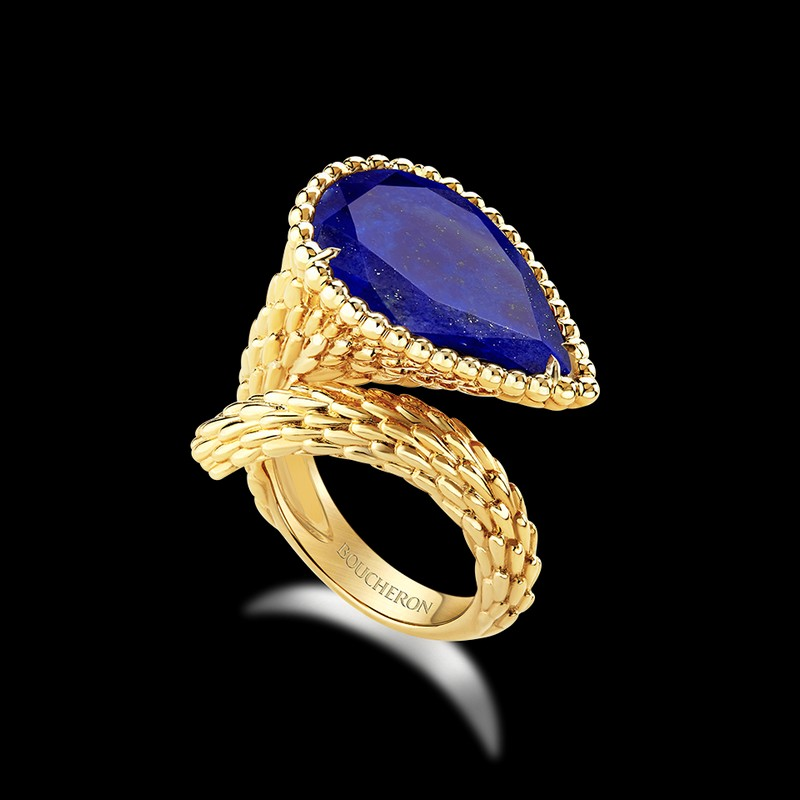 The Serpent Bohème line renews itself with the colored stones - rings