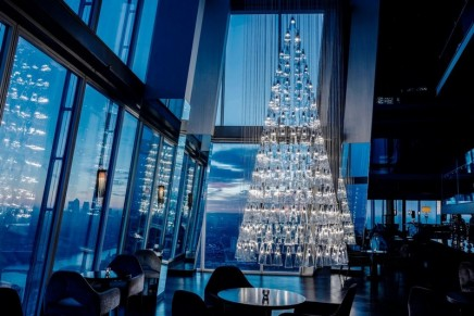 The Tree of Glass by Lee Broom with Nude at Aqua Shard