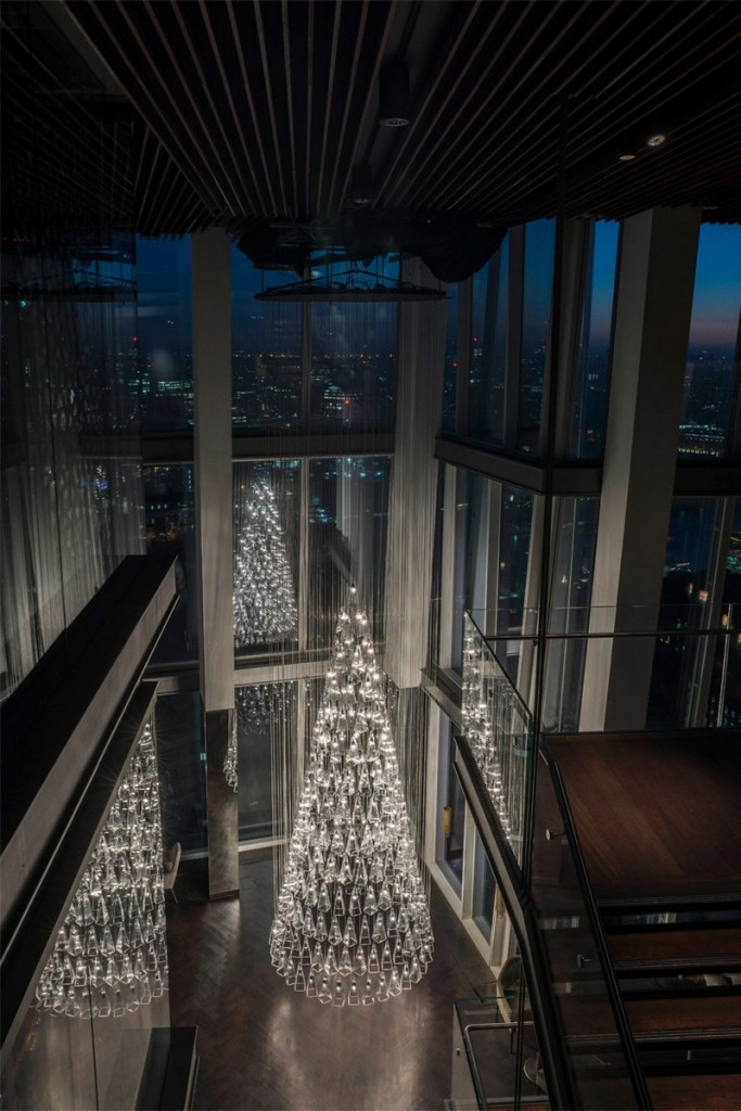 'The Tree of Glass' by Lee Broom with Nude at Aqua Shard-London