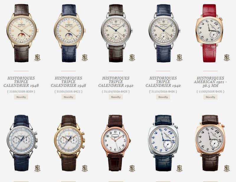 The Vacheron Constantin Historiques Collection watches