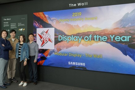 Display of the Year Award goes to the innovative modular MicroLED display, The Wall