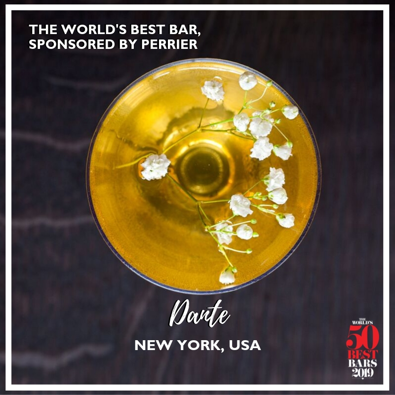 The World's Best Bar 2019, sponsored by Perrier, is Dante in New York