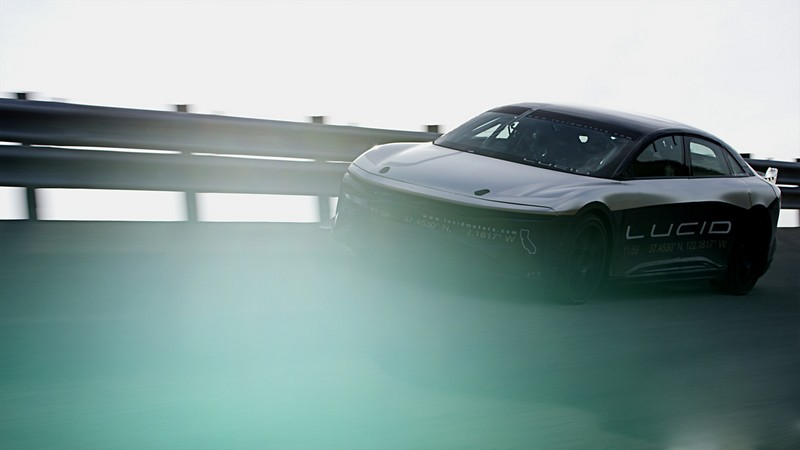 The all-electric Lucid Air sedan prototype achieved 235 mph in testing