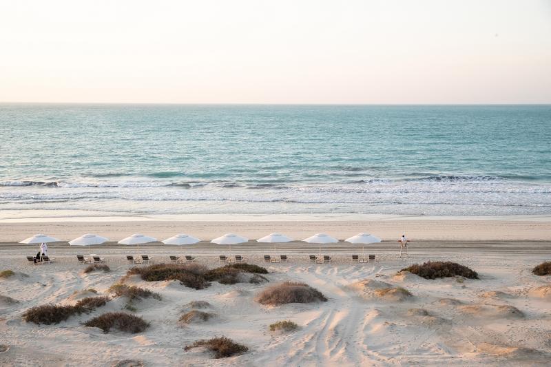 The beautiful private beach and Arabian Gulf, Jumeirah at Saadiyat Island Resort