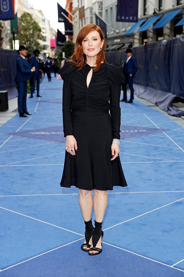 The dazzling Julianne Moore at the inauguration of Chopard new flagship boutique on Bond Street