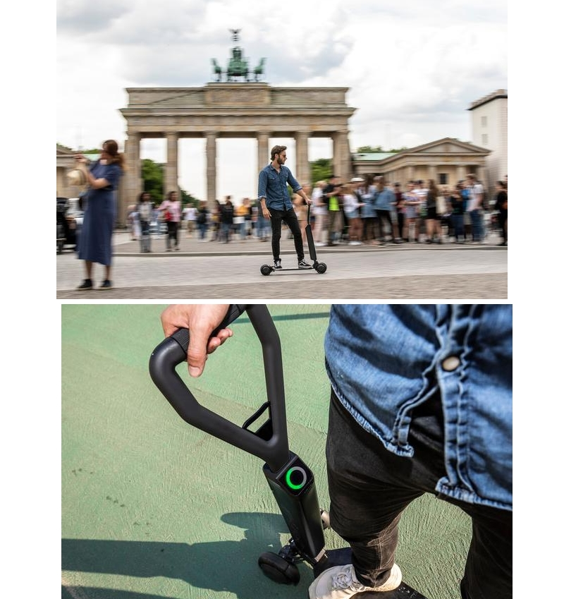 The e-tron Scooter appeals to sporty riders who are on the move in cities, sustainably and multi-modally-2019