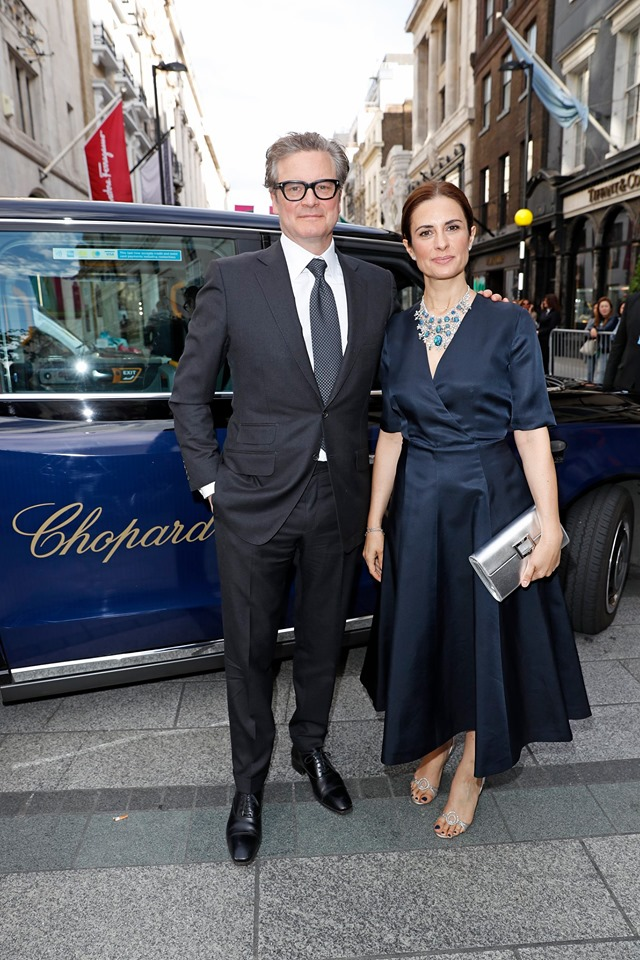 The ever elegant Colin and Livia Firth, with Chopard at the inauguration of Chopard new flagship boutique on Bond Street