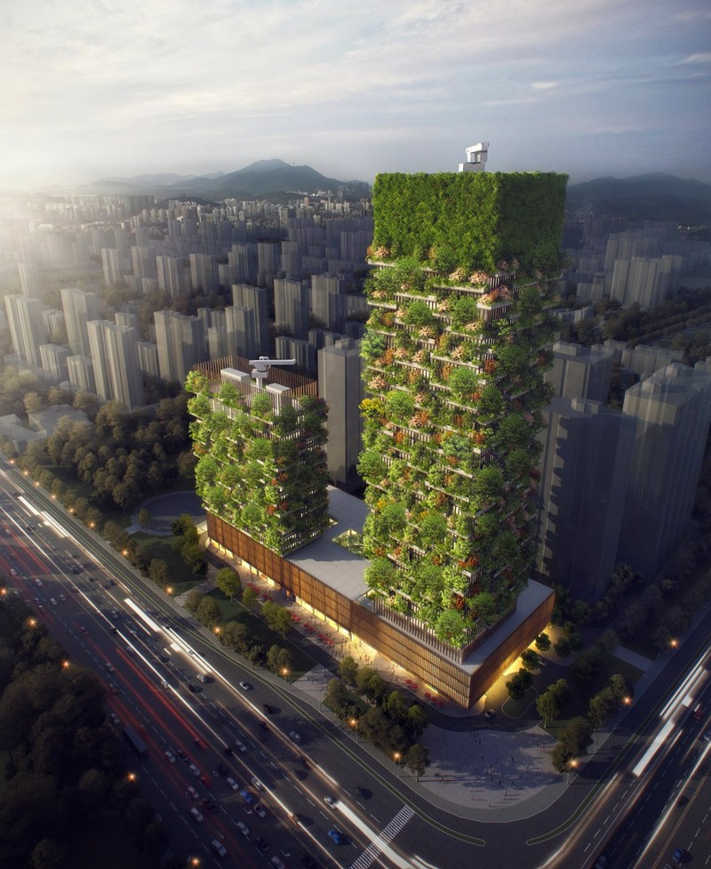 The first Vertical Forest built in Asia