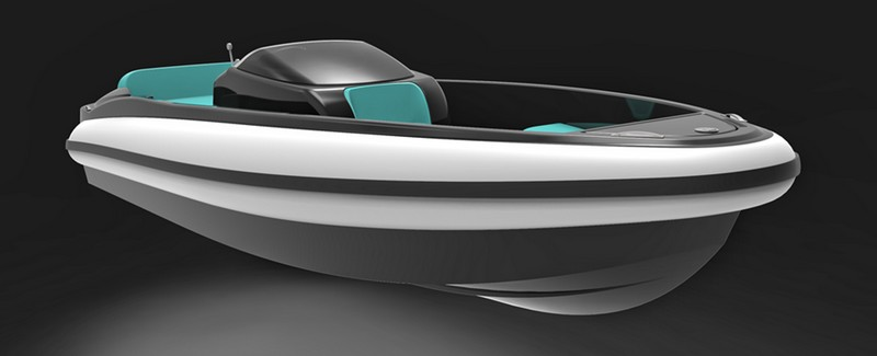 The first ecostainable luxury tender presented at the 2017 Cannes Yachting Festival