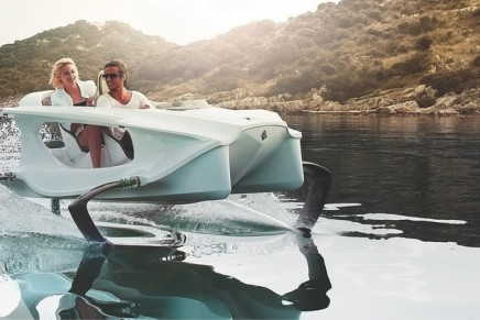This flying Quadrofoil Q2S uses highly advanced naval technology