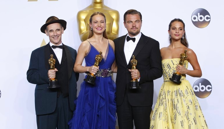 The four winners in acting categories from the 2016 Oscars