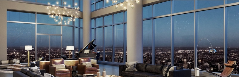 The grand living and entertaining spaces are strategically positioned in the corners of the residences