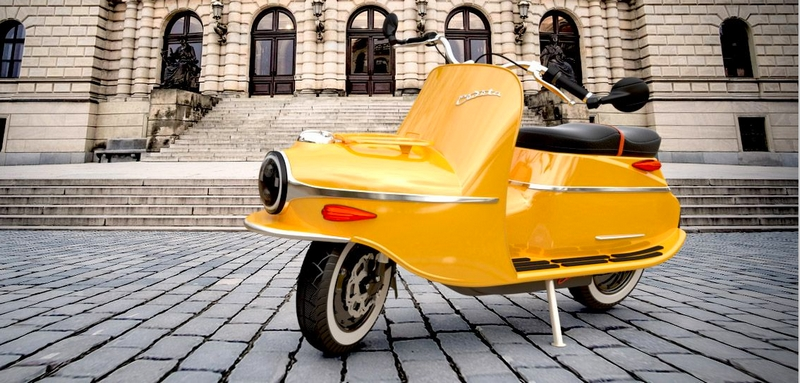 The legendary Cezeta bike is back - this time as a luxury electric scooter-