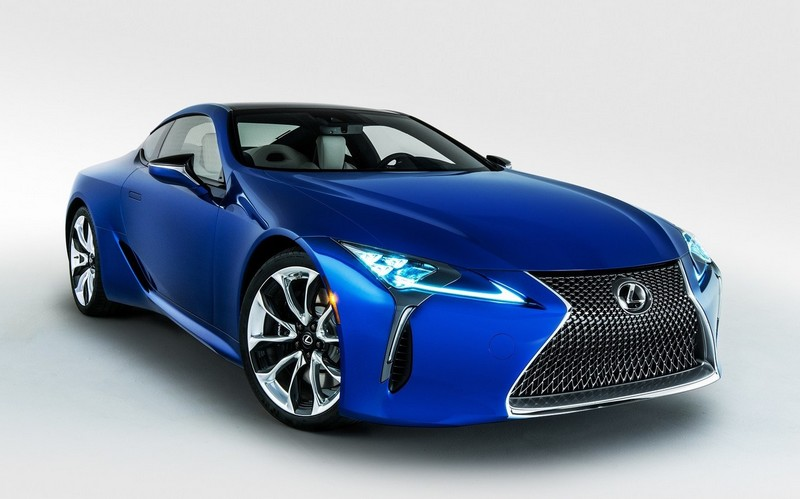 The limited-edition 2018 Lexus LC Inspiration Series features an exclusive deeply saturated, iridescent Structural Blue color.