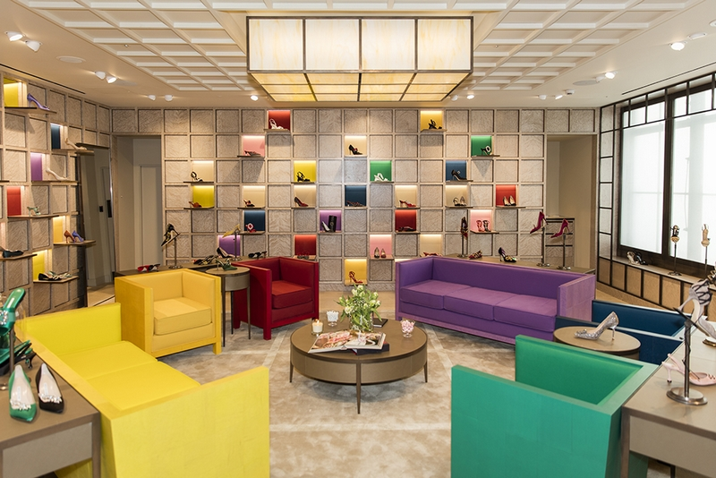 The luxury footwear label Manolo Blahnik has opened a shop-in-shop in London's Selfridges