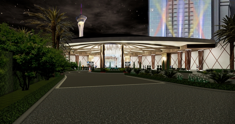 The main porte cochère will be transformed to welcome guests to the all-new SAHARA Las Vegas