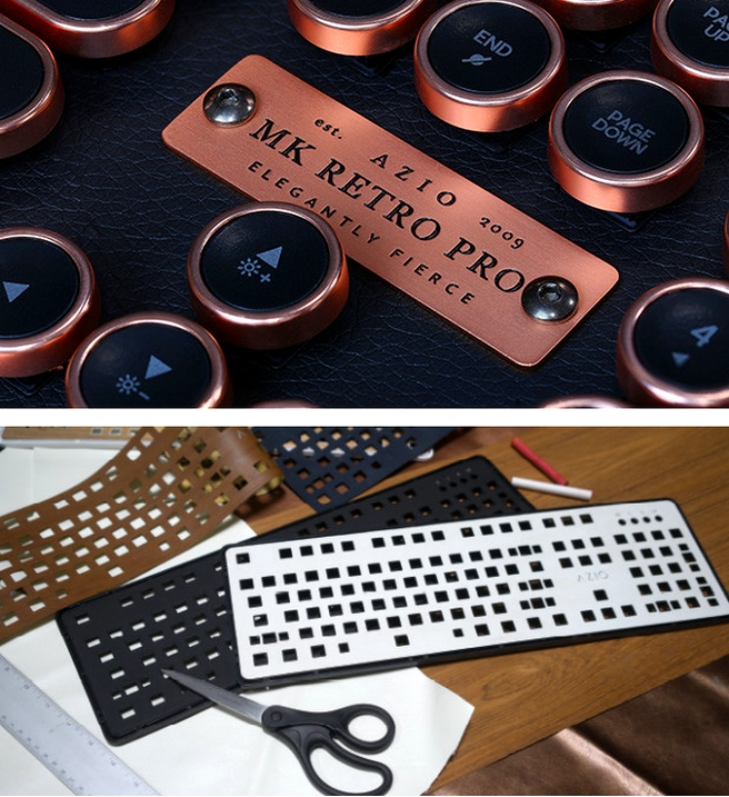 The most luxurious typewriter inspired mechanical keyboard - Retro Classic Posh--
