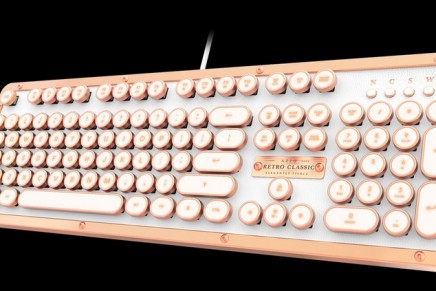 The most luxurious typewriter inspired mechanical keyboard – The Retro Classic Posh