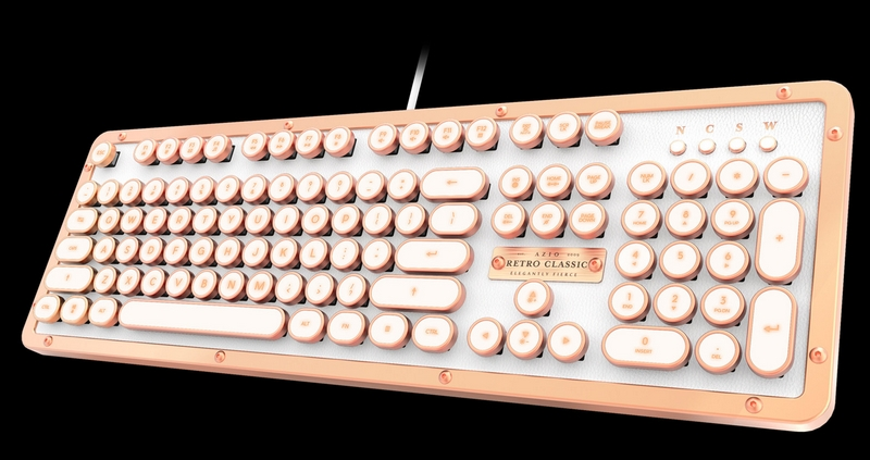 The most luxurious typewriter inspired mechanical keyboard - Retro Classic Posh