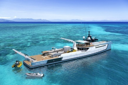 The new Power Play has been configured for a blend of adventure and superyacht support functions