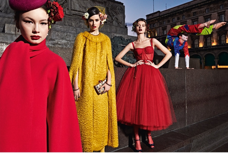 The new Dolce&Gabbana Fall Winter 2019-20 Women's Advertising Campaign, shot in Milan by Branislav Simoncik