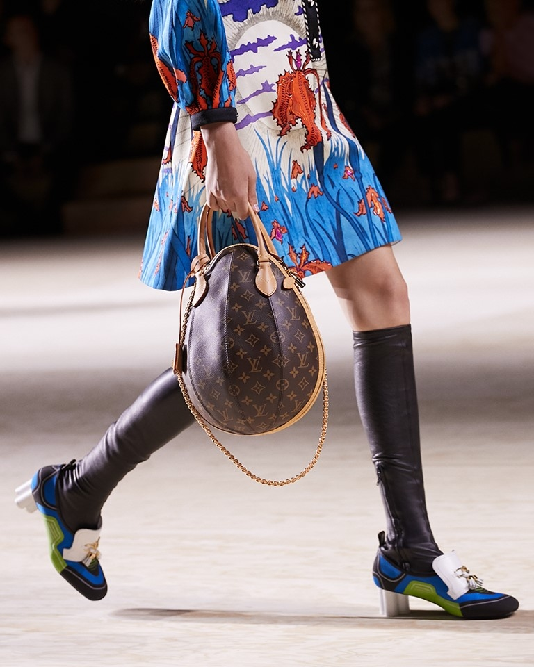 The new LV Egg bag in Monogram from Nicolas Ghesquière's latest Louis Vuitton Collection