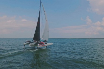 The foiling TF10 trimaran by DNA Performance Sailing is designed for every day racers
