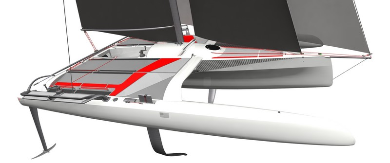 The new TF10 trimaran by dna has been nominated as a candidate for European Yacht of the Year 2018 -