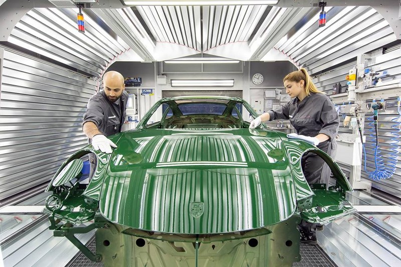 The one-millionth 911 rolled off the production line--irish green