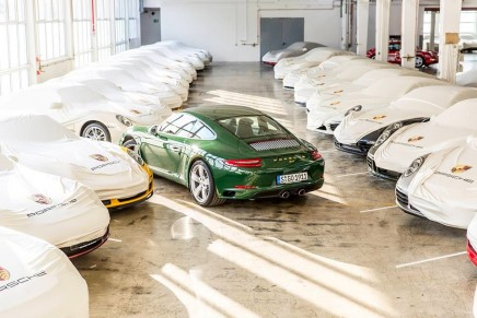 The one-millionth 911 rolled off the production line