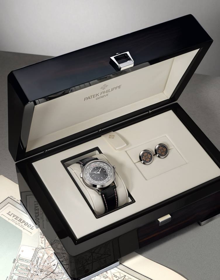 The owners of the Boodles Patek Philippe World Time Special will receive a pair of Patek Philippe cufflinks to match