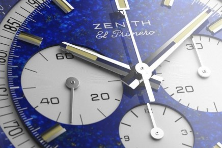 For the first time, Zenith Watches made an El Primero in platinum and lapis lazuli. And it's for a great cause