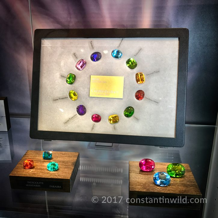 The rainbow of spectacular colours at constantinwild.gems 2017 Baselworld