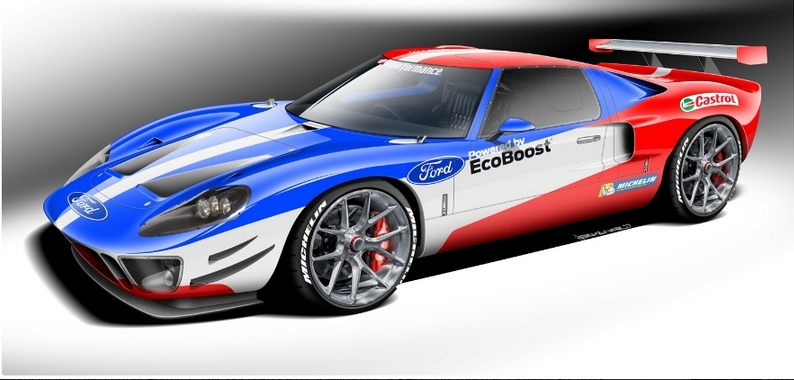 The ultimate Ford Performance tribute vehicle honors Ford GT40 Le Mans victory-