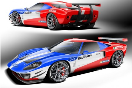 Bespoke race cars: The ultimate Ford Performance tribute vehicle honors Ford GT40 Le Mans victory