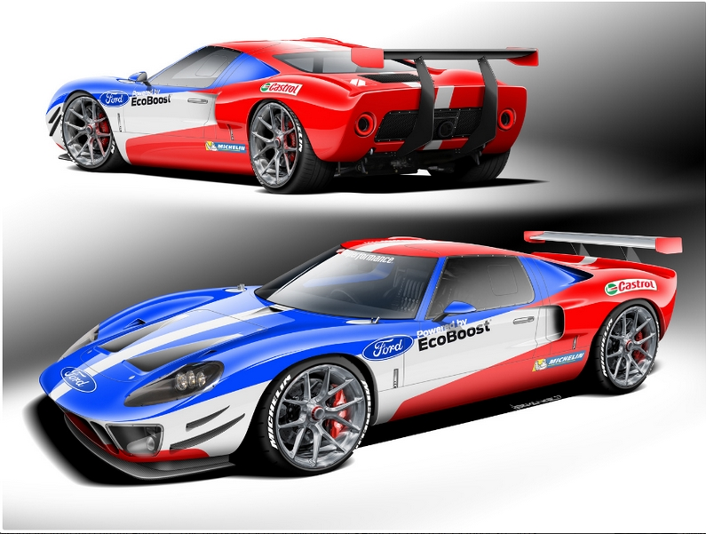 The ultimate Ford Performance tribute vehicle honors Ford GT40 Le Mans victory