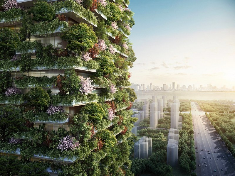 The vertical forest concept popularized in Milan is brought to Nanjing, China