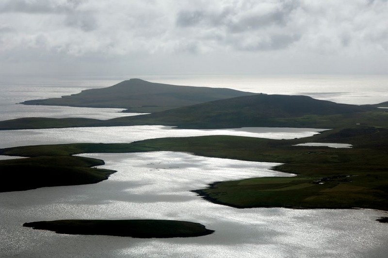 The wild and magical coastal landscape of the Shetland Islands