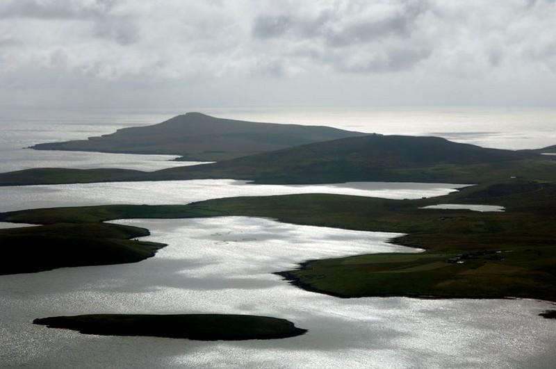 The wild and magical coastal landscape of the Shetland Islands